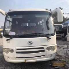 2015 Used Gloden Dragon Bus, 30000KM 19 Seats Diesel Engine Original Wheels