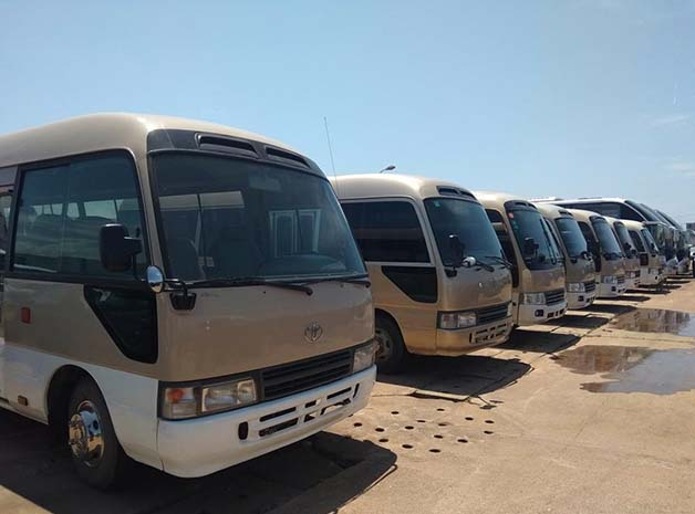 Used Toyota Coaster Bus from Japan, Diesel 15B engine