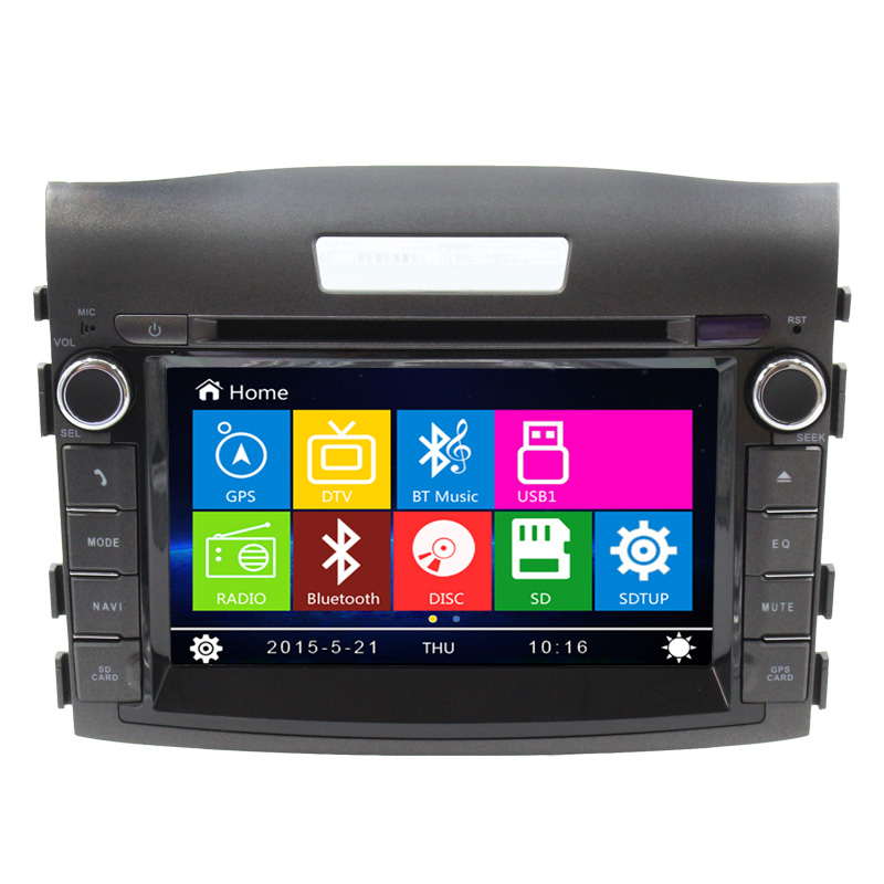 Hot Sale Car DVD Player GPS Navigation Auto Radio For Honda 2012 CRV