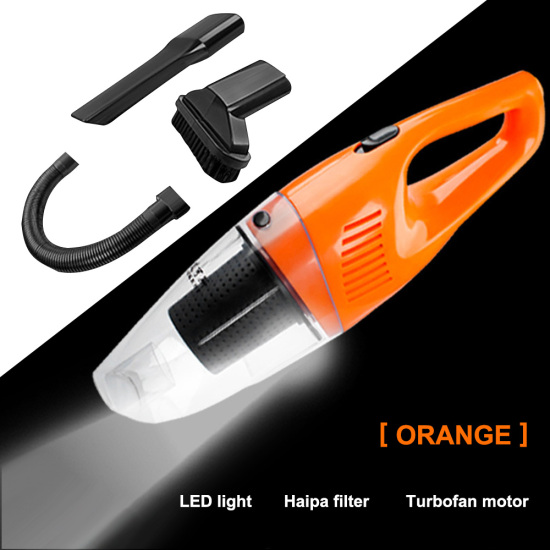 For Car with High Power&LED Light&16.4 FT Power CordCar Vacuum 12V Portable Handheld Auto Vacuum Cleaner