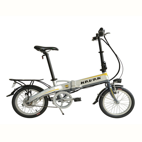 16 Inch Silver Folding Foldable Electric Bike With 250W Motor & Embedded Lithium Battery