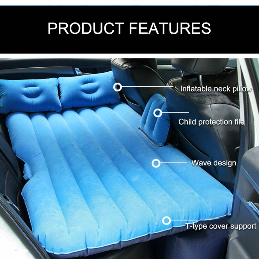 Car Travel Inflatable Mattress Inflatable Bed for Cars Back Seat Inflatable Air Pump For Child Camping Rest Sleep