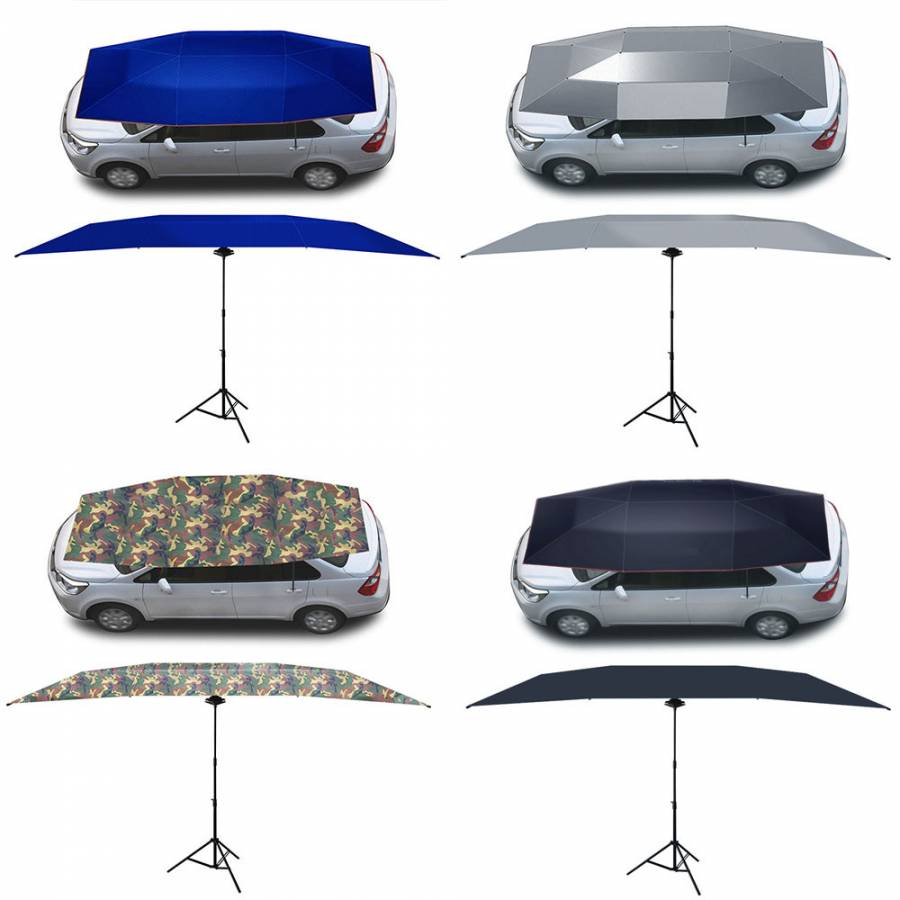 Car umbrellas automatic mobile insulation car awning intelligent remote control car sunshade