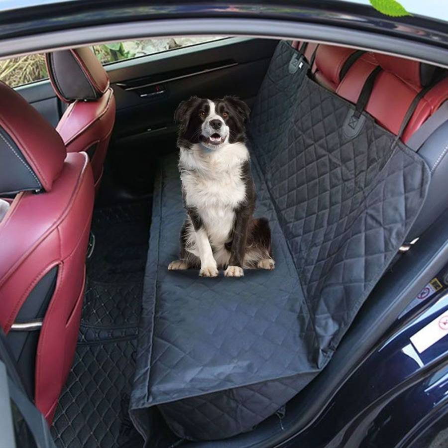 For Cars Trucks & SUVs Black Nonslip Backing, Hammock Convertible Dog Car Seat Covers Waterproof Pet Seat Cover