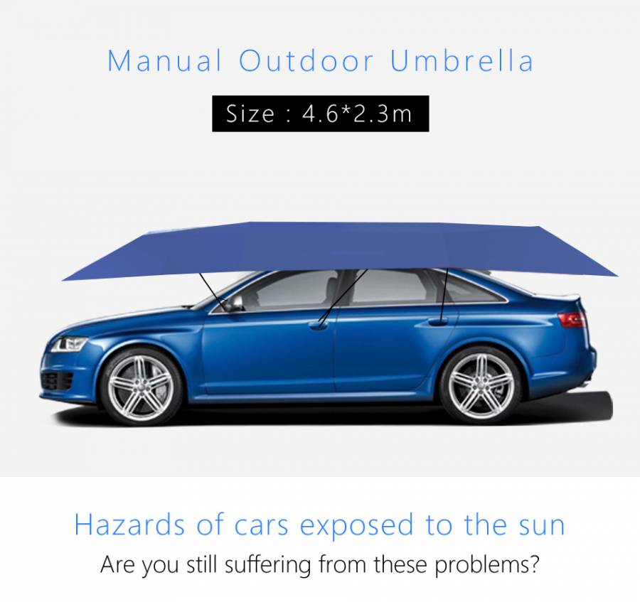 Manual Car /SUV Umbrella / Sunshade / Shelter, Portable Car Garage Tent, Parasol