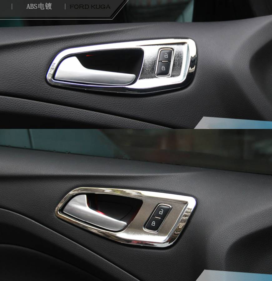 Ford Maverick door handle inside the box decorative plating handle sequined bright ring