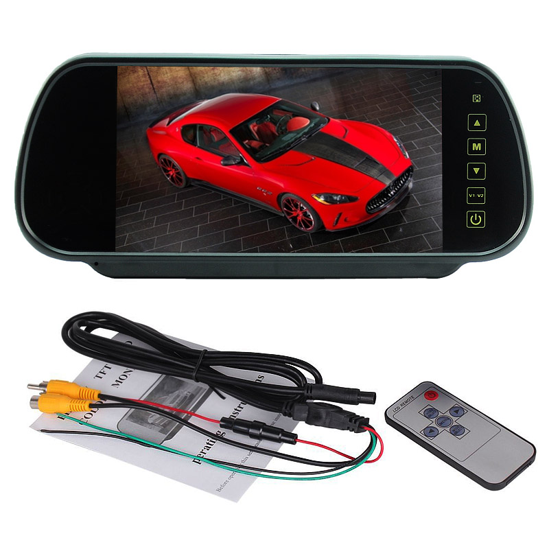 "Free Shipping New Arrival 7"" TFT LCD Color HD Mirror Monitor for Car Reverse Rear View Backup Camera / DVD"