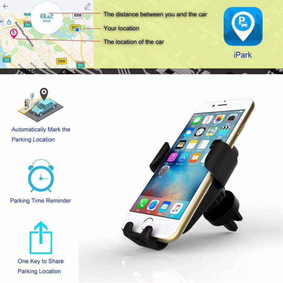 Universal 360掳 Gravity Car Air Vent Mount Windshield Holder Stand for Cell Phone